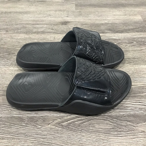 e5fd354282da Men s Jordan Hydro 7 Slides Sandals Black Size  9